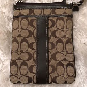 Coach Bags - Brown / tan authentic Coach crossbody Bag